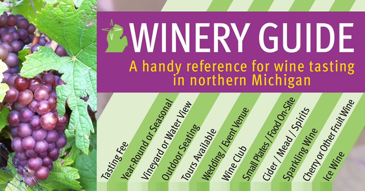 Northern Michigan Winery Guide graphic