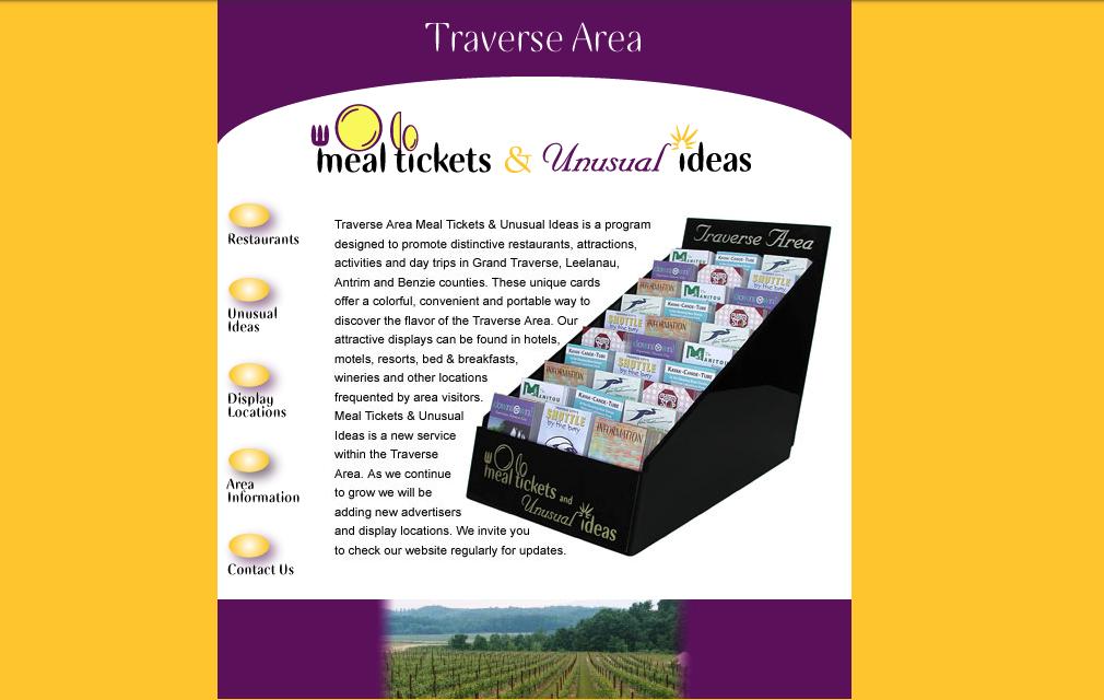 Mealtickets website homepage 2003