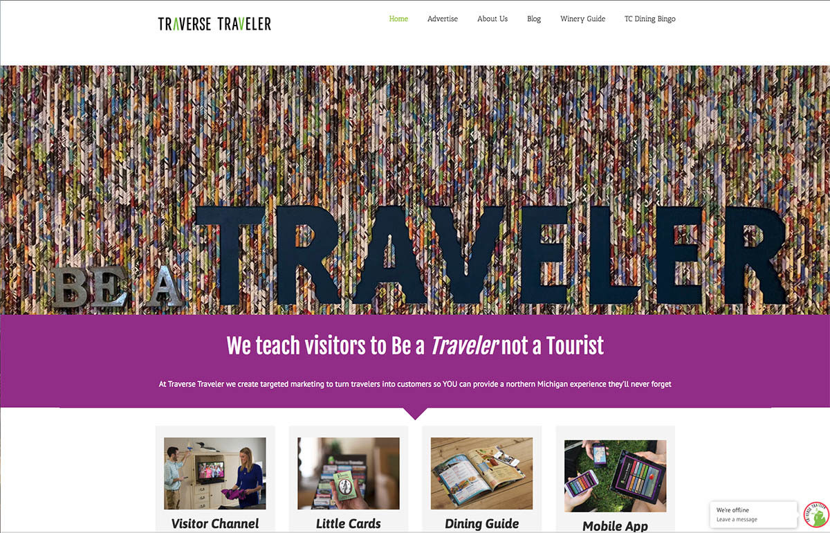 Traverse Traveler website screenshot